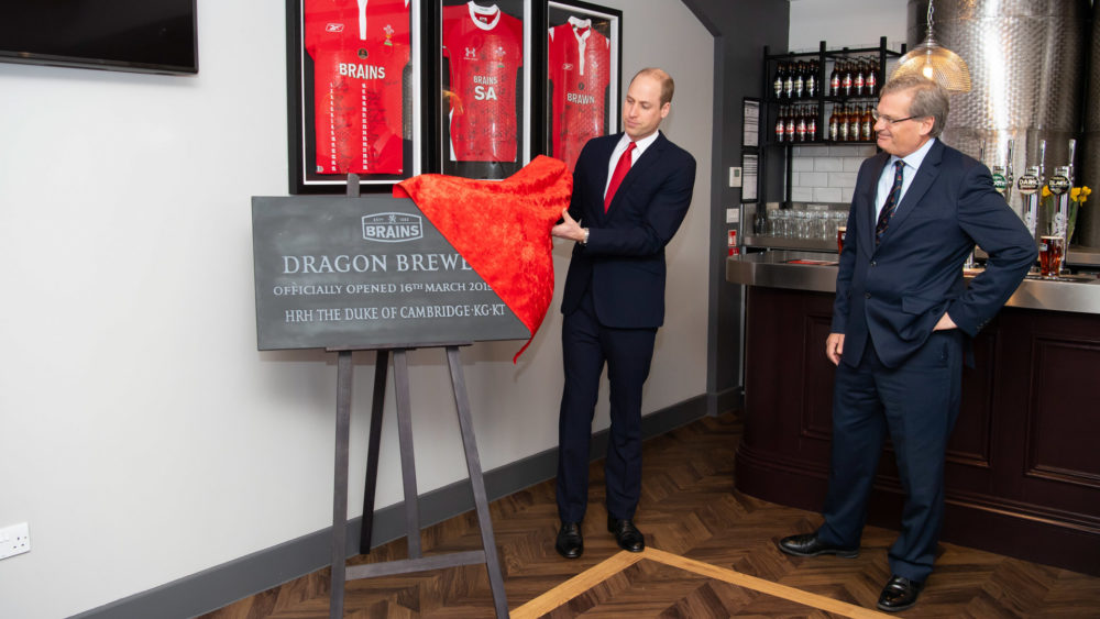 The Duke of Cambridge unveiling the plaque