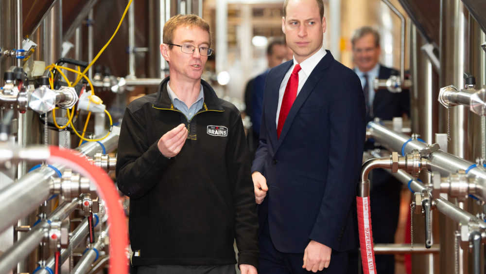 The Duke of Cambridge exploring the Dragon Brewery
