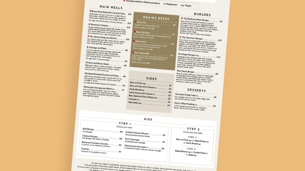 Main Takeaway Menu