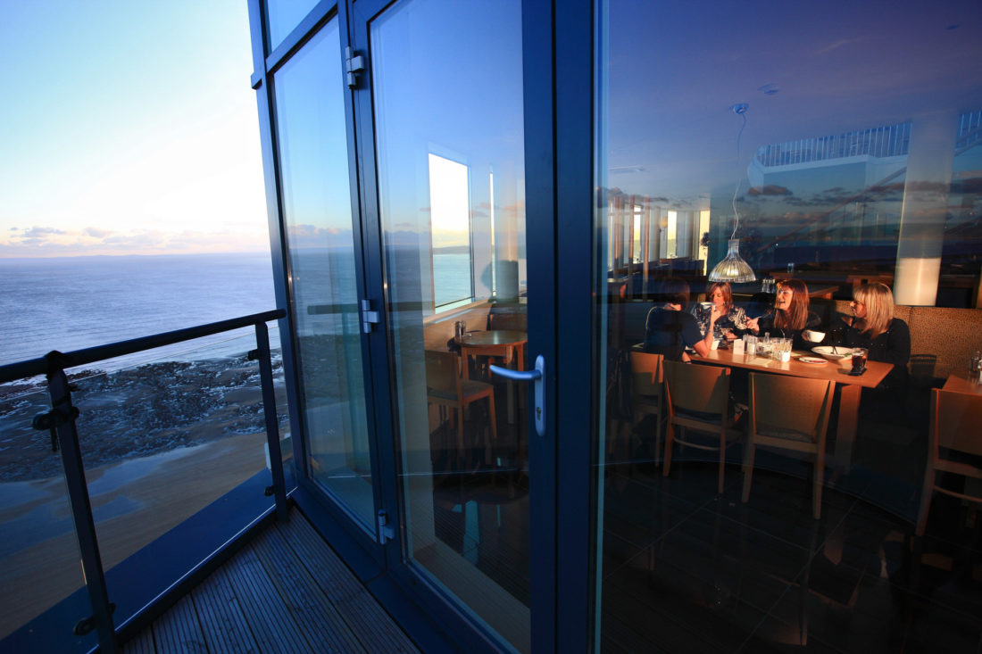 Spectacular views of Swansea from the Grape & Olive